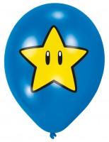 6 Super Mario Items Luftballon 27,5 cm