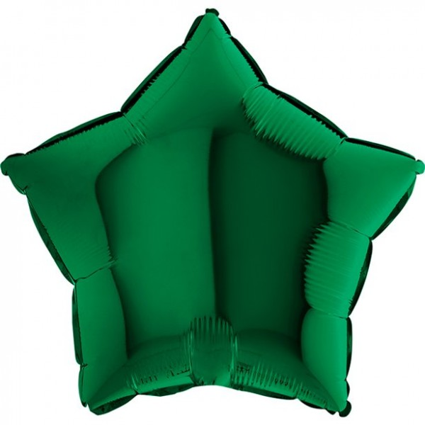 Dark green star balloon Shine 45cm