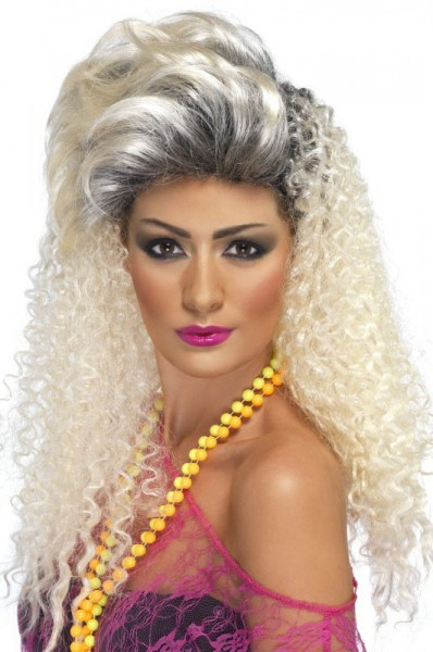 Perruque blonde Carrie Lou années 80