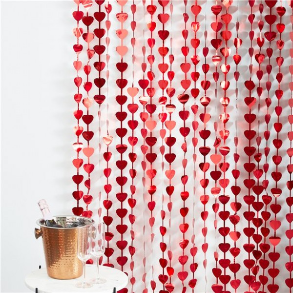 Hearts curtain Lovely 1 x 2.2m
