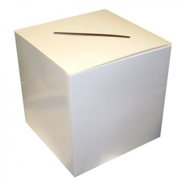 White card box Cheerfulness 30 x 30cm