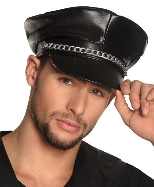 Sombrero de cuero negro Rocky