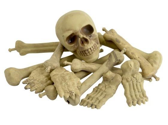 Knochenhaufen mit Totenkopf 13-teilig
