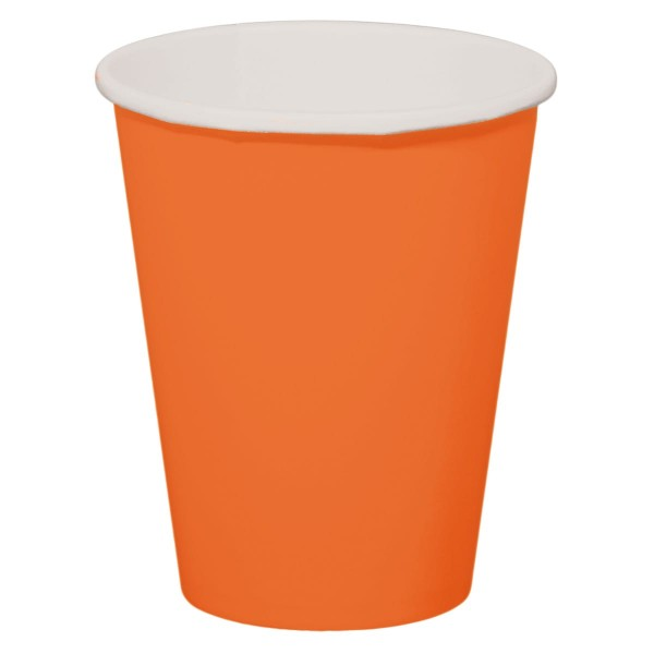 8 gobelets en papier Cleo orange 350ml
