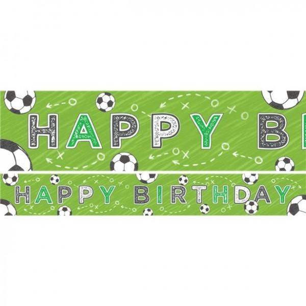 3 Fußball Geburtstagsbanner 1m