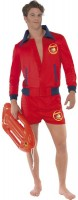 Rotes Rettungsschwimmer Herrenkostüm