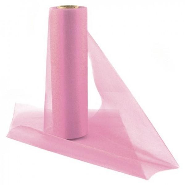 Tela de organza rosa Lucia 25m