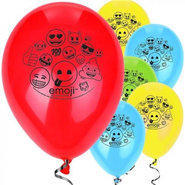 8 Emoji Parade Luftballons 30cm