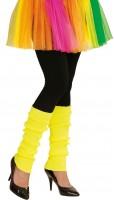 80er-Jahre Beinstulpen Neon-Gelb