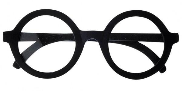 Schwarze Nerdbrille