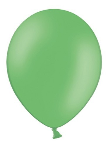 10 party star balloons green 27cm