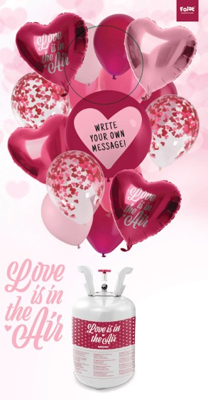 Endless Love Heliumflasche mit Ballons