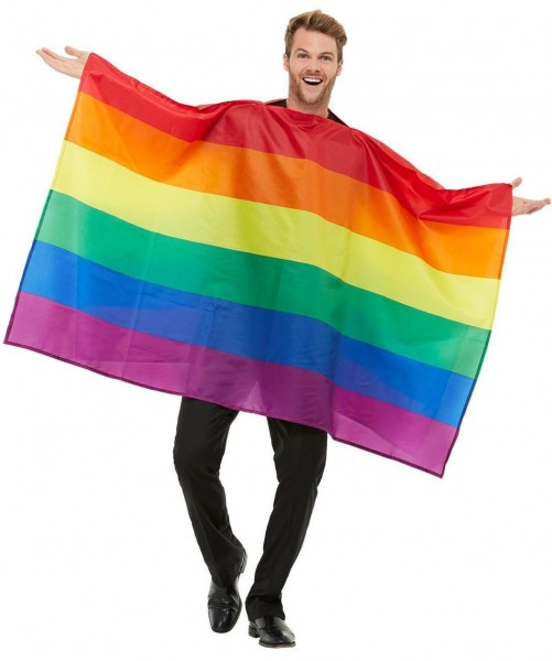 Poncho arcobaleno per adulti