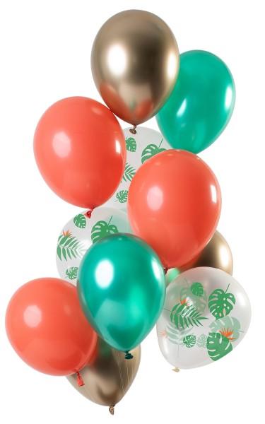 12 ballons joyaux tropicaux 30cm