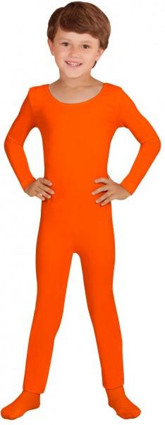 Body enfant manches longues orange