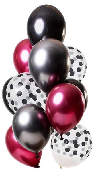 12 Latexballons Dark Richness