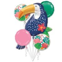 Tukan Dschungelkönig Ballon Bouquet