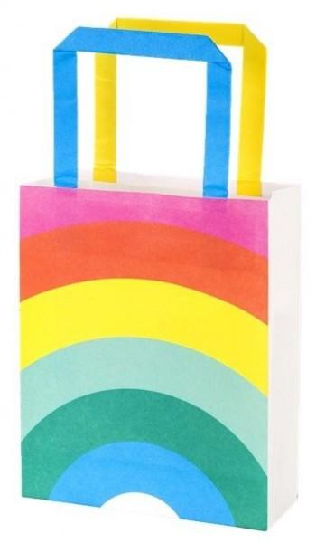 8 Rainbow Splash Geschenktüten 19cm