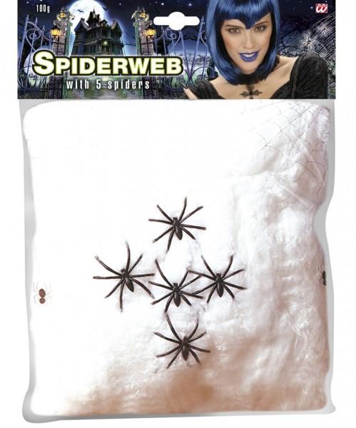 Horror Spinnennetz mit Spinnen 100g