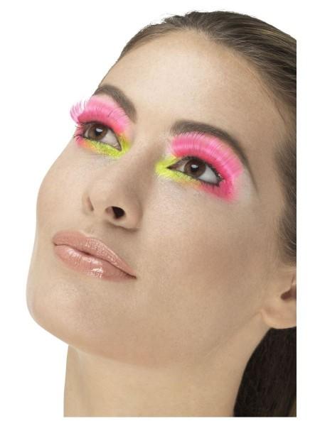 80er Jahre Neon Wimpern pink