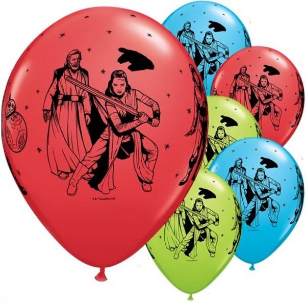 6 Qualatex Star Wars Ballons 28cm