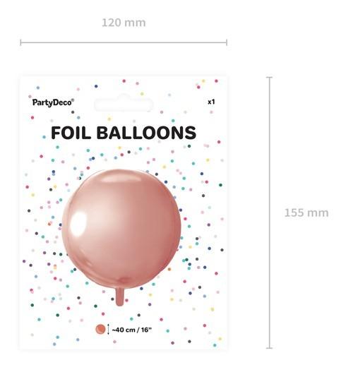 Bola fiesta globo sobre oro rosa 40cm 4