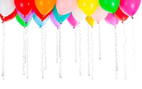 100 bunte Latex Ballons 20cm 1