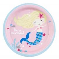 8 Pappteller Sei eine Meerjungfrau 18cm