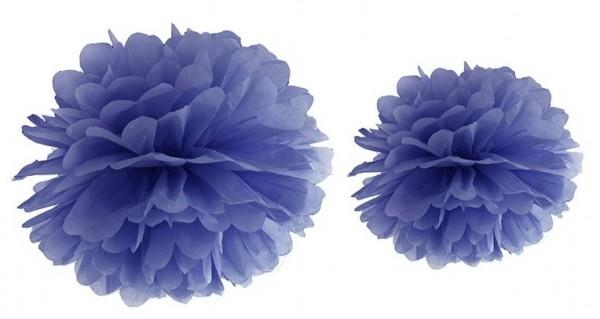 Pompon Romy azul oscuro 25cm