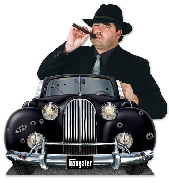 Party decoration gangster car Big Al 93x62cm