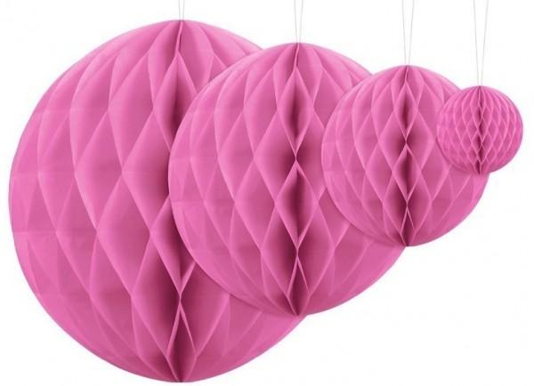 Sfera decorativa a nido d'ape in rosa 30 cm