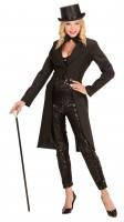 Burlesque Lady Tailcoat Noir