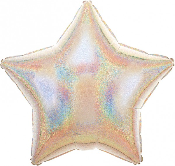 Globo estrella Stardust plata