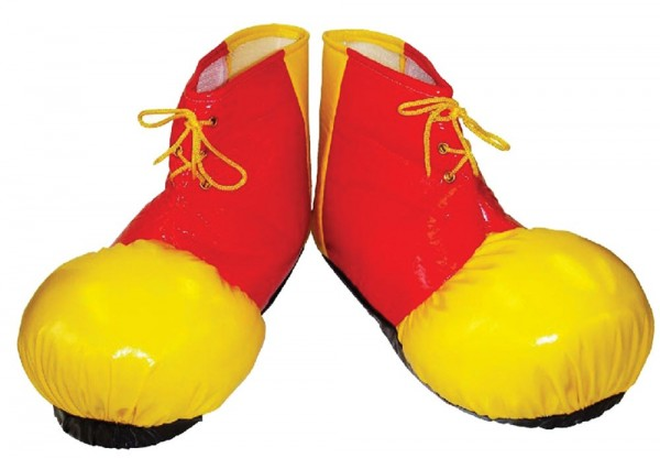 XXL clown shoe cover red-yellow