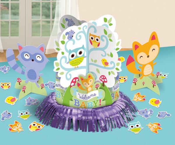 Babyparty Liebenswerte Waldtiere Tischdekoration 23-Teilig