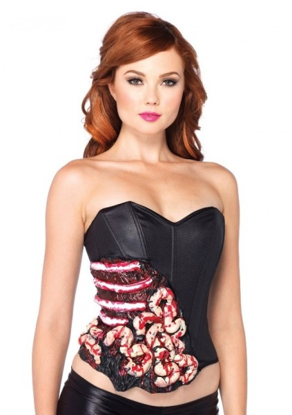 Zombie corset with bloody guts