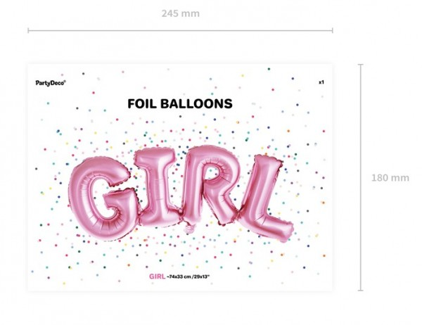 Baby Girl Folienballon 74 x 33cm