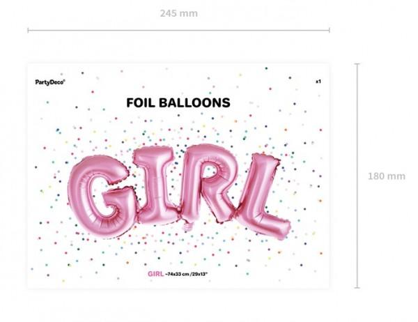 Balon foliowy dla dziewczynki 74 x 33 cm