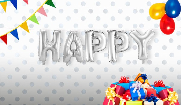 Folienballon Happy 5-teilig