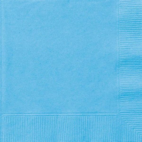 20 servetten Vera lichtblauw 33cm