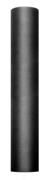 Tüll Stoff Luna schwarz 9m x 30cm