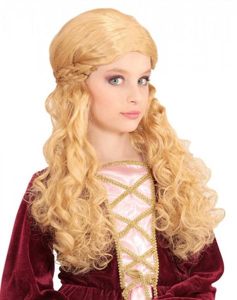 Parrucca bionda da principessa da mezza età
