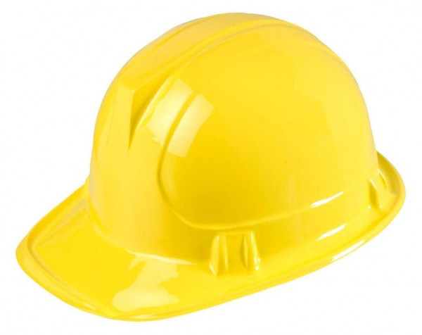 Yellow construction worker helmet
