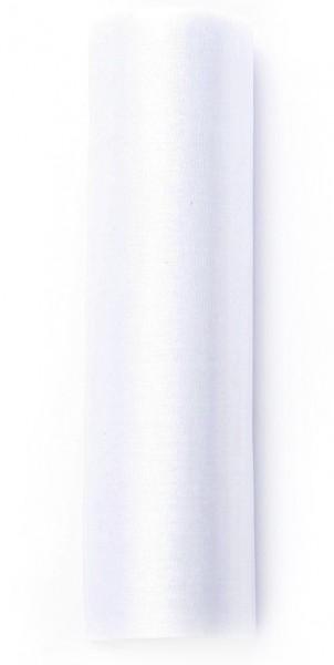 Organza Stoff Julie weiß 9m x 16cm