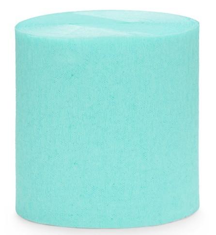 Papier crépon 10m turquoise 4 parties