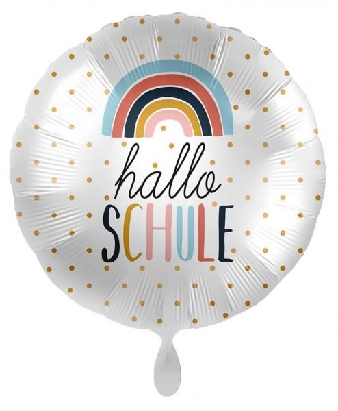 Hallo Schule Regenbogen Folienballon 43cm