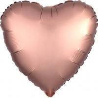 Romantic Deluxe Herzballon roségold