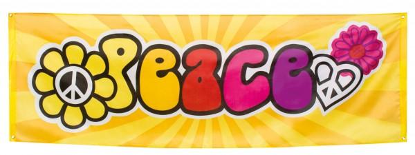 Hippie Peace Party Banner 74cm x 2,2m