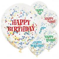 6 Birthday Celebrations Konfetti Ballons 30cm