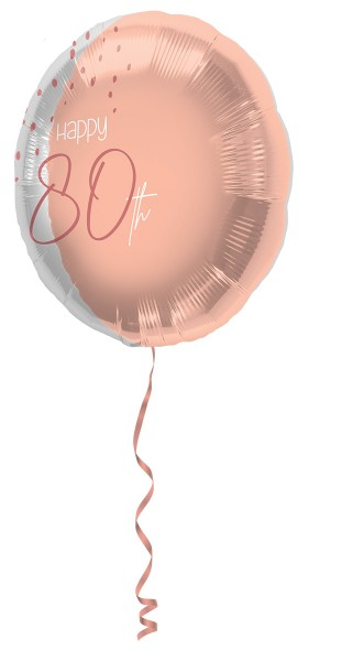 80. Geburtstag 1 Folienballon Elegant blush roségold